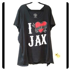 Euc Torrid 6x Sons of Anarchy I ❤️ Jax graphic tee